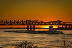 DSC00304 (tmalone893) Tags: riverbarge river memphis tennessee sunset water sun bridge silouette sony tamron a7iii 2875