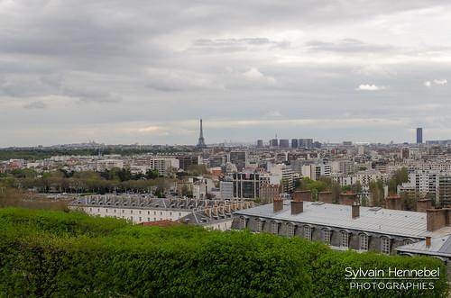 Panorama sur Paris et Boulogne-Billancourt depuis le parc de Saint-Cloud