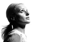 Loneliness (Wilamoyo) Tags: peopleportrait studioportraits femalemodels girl woman beauty isolated loneliness up looking profile mono monochrome black white