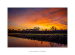 Daybreak along the Canal (Ken Walker Photography) Tags: daybreak autumn landscape nature water sky sunrise trees colours clouds