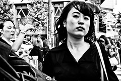 Shibuya Moment (Victor Borst) Tags: geel street streetphotography streetlife reallife real realpeople asia asian asians fa faces face candid travel travelling tr trip traveling urban urbanroots urbanjungle blackandwhite bw mono monotone monochrome portrait city cityscape citylife girl woman lady female sexy hot beautiful beauty fuji fujifilm xpro2 expression tokyo shibuyacrossing japan japanese