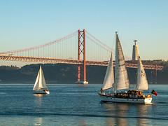 Wind in the sails (Catarina Borges) Tags: wintersun bridge sailing belem lisboa riotejo tagus