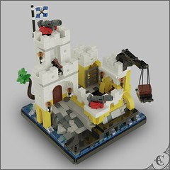 Eldorado fortress 6276 Microscale (Corvus Auriac MOCs) Tags: lego moc pirates fortress eldorado bricks design afol