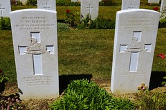 C.W. Dodson & H. Robinson, Lincolnshire Regiment, War Grave, 1944, Bayeux (PaulHP) Tags: ww2 world war 2 headstone grave france bayeux military cemetery british normandy cwgc priavte cw charles william dodson service number 4803055 2nd july 1944 4th bn battalion lincolnshire regt regiment elsie may fiskerton lincs corporal h harry robinson 4803083 3rd james elizabeth mary lincoln marjorie battle