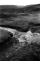 35 Stream, old lead mine landscape (I ♥ Minox) Tags: film 2018 olympus om1 om1n olympusom1n olympusom1 om172 tmax tmax400 kodaktmax400 monochrome blackandwhite leadmining