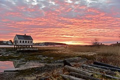 Fire in the sky (Robert Dennis Photography) Tags: capeporpoise kennebunkport maine sunrise