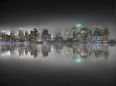 NYC - Impresiones de un skyline bajo la niebla  # 039 (ricardocarmonafdez) Tags: newyork manhattan nyc fog misty niebla noche night highiso nightshot reflejos movimiento effect movement reflections edition impresiones impressions mirror espejo lowlight ricardocarmonafdez ricardojcf arquitectura architecture buildings skyscraper
