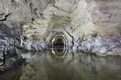 Reflets (flallier) Tags: carrière souterraine gypse underground gypsum quarry souterrain lac lake eau water inondé flooded inondation plâtrière plâtre galerie tunnel nikon d700 20mm nikkor ais