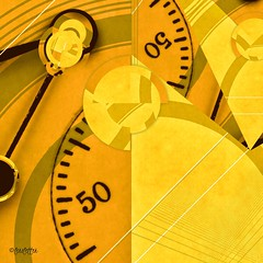 50/50 (lensletter) Tags: addlibs fragment lorystripes icolorama clock pocketwatch geometrics lensletter yellow handheldart mobileart ipad