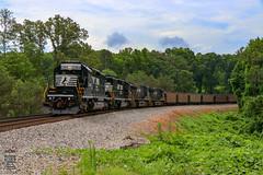 NS 736_G55DPU (Steve Hardin) Tags: locomotive emd standardcab sd402 norfolksouthern railway railroad railfan coal train hopper dallas georgia mcpherson