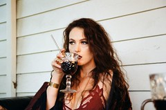 Lana Shea (hawthornjr) Tags: portland oregon lana shea film 35mm poor girl sangria canon eos rebel 2000 kiss women artists kodak colorplus 200