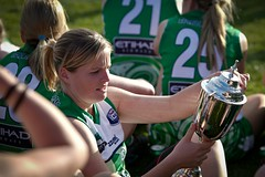 Marguerite O_ Malley having won first Womens IC in 2011 (Australian Embassy Ireland) Tags: afl football aussie rules