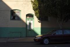 Honda (Curtis Gregory Perry) Tags: oregon honda accord shadow light tree door window building brick wall nikon d810 woodburn automóvil coche carro vehículo مركبة veículo fahrzeug automobil