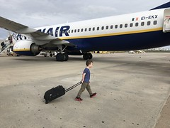 "Flying Solo (or ""I'm out of here"") (firehouse.ie) Tags: confident boarding passenger boeing737 737600 737 boeing flughafen portugal algarve fao faro ryanair jets jet airliner airline aircrafts aircraft traveller travel traveling airfield aeropuerto aerodrome aeroport airports airport"