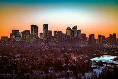 Calgary Pre Dawn (djking) Tags: morning calgary alberta elbowriver city canada predawn skyline g