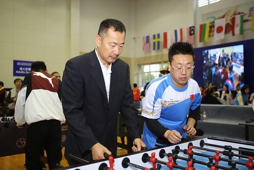 国家体育总局社会体育指导中心副主任杨善德亲临比赛现场并体验