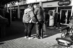 Love and Affection (Bury Gardener) Tags: cambridgeshire cambridge streetphotography street streetcandids snaps candid candids people peoplewatching folks strangers britain bw blackandwhite monochrome mono