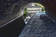 The Light At The End Of Bridge 25 (Mr_Pudd) Tags: towingpath towpath water stone bridge cobbles huddersfield longroydbridge huddersfieldnarrowcanal canal nikon50mm14 nikond750 nikon 53641598017959448 afsnikkor50mmf14g