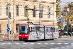 BTS_7111_201811 (Tram Photos) Tags: ckd tatra k2s bratislava dopravnýpodnikbratislava dpb strasenbahn tram tramway električková mhd električka vollwerbung ganzreklame