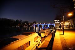 Kingston Surrey (psychosteve-2) Tags: thames kingston surrey bridge boats night