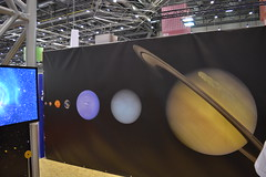The solar system in size order
