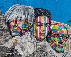 "Detail of ""Mount Rushmore with Andy Warhol, Frida Kahlo, Keith Haring and Jean-Michel Basquiat"" Mural (2018) by Eduardo Kobra, Chelsea, New York City (jag9889) Tags: 10av 10ave 10thavenue 2018 20181203 andywarhol architecture artist brazil building chelsea color detail diner dinosaur eduardokobra empirediner face frida fridakahlo glasses graffiti house kahlo keithharing kobra manhattan mexican monumental mountrushmore mural muralist ny nyc newyork newyorkcity outdoor painter painting portrait streetart streetartist tagging tenthavenue usa unitedstates unitedstatesofamerica wall jag9889"