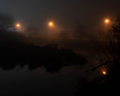 Foggy Night (dsgetch) Tags: foggy fog night nightphotography lights cascadia pnw pacificnorthwest pnwlife oregon willamettevalley lanecounty eugeneoregon deltaponds deltapondscitypark reflection waterreflection