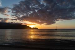 Princeville sunset Kauai Hawaii pano