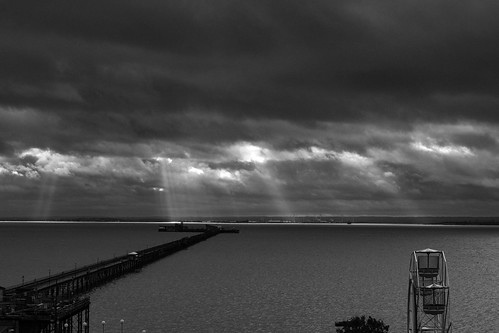 Clouds and light over the water