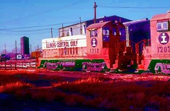 Illinois Central Gulf #1212 (rrradioman) Tags: sw7 emd 1212 icg illinois central gulf glenn yard chicago switcher