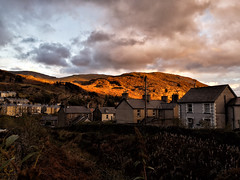 A Dramatic Sunset over Blaenau Ffestiniog, North Wales (uk_dreamer) Tags: sunset light dark clouds sky cloudy dramatic nature natur mountains rocky town houses blaenau ffestiniog gwynedd wales cymru landscape autumn fall