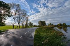 After rain. Amstel (Julysha) Tags: d800e nikkor142428 acr autumn october 2012 river road sky clouds amstel thenetherlands holland