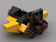 Hound Microfighter (FraG - OutOfTheBox) Tags: microspacetopia legoscifi legospace lego legomicroscale microscale
