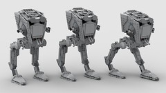 lego AT-ST mod walking positions (KaijuWorld) Tags: lego moc custom set mod st walker empire endor star wars ldd