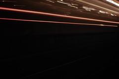 Light trail (Vinterafton) Tags: tram train lightrail dark night rails sweden gothenburg