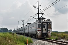 Wasting No Time (csx7661) Tags: nictd chicagoland indiana transportation clouds farm agri agriculture trains train commuter railroad railfan nikon
