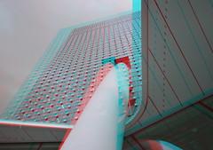 KPN-building Rotterdam 3D (wim hoppenbrouwers) Tags: kpnbuilding rotterdam 3d anaglyph stereo redcyan kop van