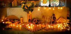 Happy New Year Dear Flickr Friends (Gypsy's Stuff Shamblady) Tags: new year 2019 2018 india happy display lights yellow amarillio compassion buddha marble gold oro dec jan