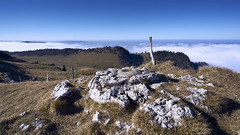 A la recherche du soleil (Jtofs85) Tags: chasseral sony switzerland 20mm workshop uga bern jurabernois a99m2 stone fog nuage brouillard soleil