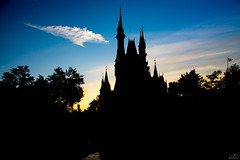 Cinderella Castle Silhouette (Michael Billick) Tags: waltdisneyworld wdw resorts orlando photography amusementparks disneyphotoblog disneyphotography disneyworld disneyparks florida hdr kissimmee colors nikon magickingdom cinderellacastle bluesky nikond810 sunsets silhouette