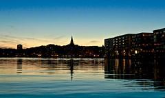 Water and sky (OlgaL2018) Tags: water sky blue sunset dusk stockholm sweden city summer night hammarbysjöstad