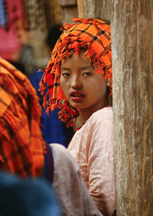 Woman From Taunggyi, Myanmar (Eric Lafforgue) Tags: asia myanmar burma tourism oneteenagegirlonly orange traditionallymyanmarian headdress traditionalclothing vertical colourpicture traveldestinations oneperson oneyoungwomanonly asian outdoors taunggyi shanstate indigenous burma1000