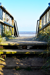 Step to the Sea (Travis Pictures) Tags: mablethorpe lincolnshire lincs sea seaside northsea coast coastal water blue sky resort tourism holidays winter outdoors outside nikon d7200 photoshop town stairs steps wooden