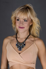 Necklace (piotr_szymanek) Tags: ania aniaz woman young skinny portrait studio face blonde necklace smile top