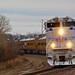 1/4 UP 1943 Leads 21 Car Officer Special for Bush Funeral Train Bucyrus, KS 12-2-18