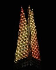 Shard Lights (JH Images.co.uk) Tags: shard london christmas light illuminated show lightshow night hdr dri skyskraper
