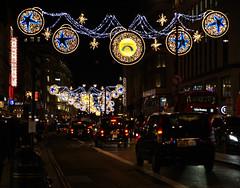 London at Night (ChiralJon) Tags: london night photography taxi bus lighting colourful christmas culture londra londres londyn лондон 伦敦 ロンドン 런던 northbank colorful
