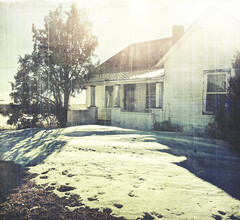 ready to sale (jssteak) Tags: canon rural house vacant snow winter afternoon glare lightleak aged vintage