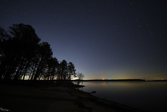 Starry, Starry Night,  Paint your palette blue and gray,  Look out on a summer's day,  With eyes that know the darkness in my soul ~ Don McLean (Karnevil) Tags: usa nc northcarolina apex cary raleigh pittsboro chapelhill farringtonpoint jordanlake lake jordan boatramp chatham wake durham orangecounty jordanlakedam beverettjordan usarmycorpsofengineers hawriver stars northstar polaris lights starlight lightpollution vincent donmclean wideangle wideshot 12mm laowa venusoptics sony alpha sonyalpha a7riii a7 riii petekreps ioptron skyguider skyguiderpro astronomical dawn astronomicaldawn