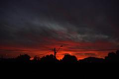 Final del día (FiRMYYY) Tags: atardecer sunset chile santiago silhouette silueta sky nubes colores orange naranjo city ciudad